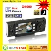 X4000 Built-in microphone/horn, TFT LCD shows 2.0 or TV, support NTSC and PAL TV CAR DVR