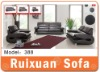Modern Genuine 1 2 3 leather sofa set 388