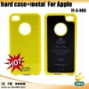 hard case + metal cell phone case for apple (YF-A-005)