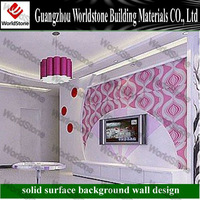 2012 WS-BGW183 new design customize TV background wall