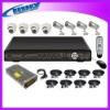 8 CHANNEL/REAL TIME/3G SUPPORT CCTV Surveillance Camera System Kit+DVR+Cameras+adaptor