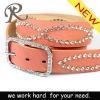 High Quality Lady PU Belt with Rhinestones