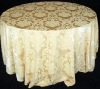 100% polyester material Jacquard table cloth