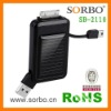 USB travel/emergency power supply for Iphone/Blackberry