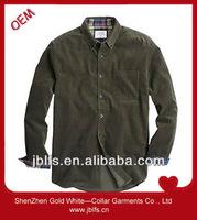 mens wholesale slim fit casual corduroy shirt