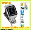 Waterproof 8M 1.5inch watch mobile phone W818 bluetooth MP3 MP4 1.3MP camera FM champions quality