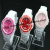 fashion white band wrist watch,icecream watch