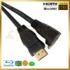 High Speed HDMI Cable with Ethernet, support 3D, 180 degree to 90 degree,