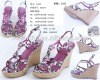 2012 lady romantic flower wedge sandal