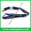 blue lanyard strap with white metal connected buckle