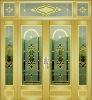 Interior aluminum door ,glass door