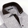 202 new design jacquard man's casual shirts