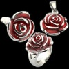Stainless steel jewelry rose design