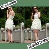 SC0012 Fancy Design Skirt Strapless Knee-length Christmas Cocktail Dresses