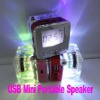Mini USB Multimedia Speaker Music Player Micro SD TF Card For PC MP3 FM Colorful