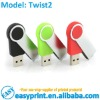 Free logo print Twist2 USB Flash Drive size from 128MB to 32GB with logo print