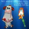 Ceramic animal wall mounted toothbrush holder