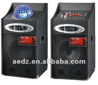 stage party dj karaoke speaker with usb sd fm professional speaker with laser