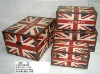 Vintage suitcase UK Flag