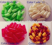 Size 00# 0# 1# colored Gelatin Empty Hard Capsules