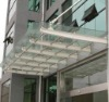 high quality tempered sandwich glass entrance canopy