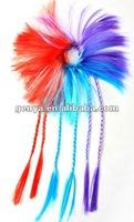 Fashion Children Hair Braid Hair Extensions hair wig in blue, orange, fuchsia,purple, pink,yellow