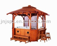 wood gazebo/garden gazebo(can match with hot tub)
