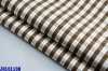 With spandex yarn dyed gingham shirt poplin fabric