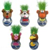 handmade children toys-growing grass head toy