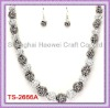TS-2666A Beads Jewelry Set With Gray Fireballs