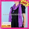 lady elegant long knit scarf with fashion pendant jewelry