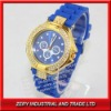 2012 Silicone Fashion Watch With The Diamonds Case And Colorful Strap