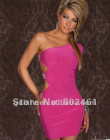 Pink Single Arm Mini GoGo Club Dress