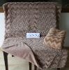 Wave-shaped Plush Fleece Blanket