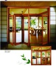 European folding solid wooden partition doors /patio doors