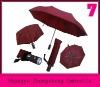 Foldable automatic open&close LED umbrella
