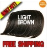 Light Brown Hair Bangs CLIP ON BANGS SIDE LONG 5colors