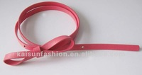 Coral color cross body belt for dress and decoration