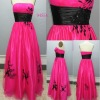 Fantasy Tulle Mermaid Prom Dress, Decorated with Black Appliques