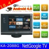 China Supplier of 18.4 inch Android Smart TV with TV+WIFI+Ethernet+HDMI+AV-IN/OUT+USB+3-IN-1 Card Reader KA-2088GL