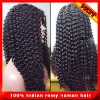 """12""""-24"""" length,1#.1b#.2#,4# hair color In stock cheaper Indian remy human hair front lace wigs with bangs"""