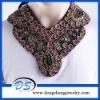 handmade wood beading embroiery wrap necklace choker retro plum flower collar