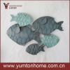Group of fish metal wall art decor