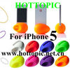 Fashion silicone mini egg speaker for iphone 5
