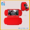 Red silicon case game accessories for psp 2000