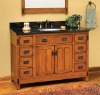 Bamboo bath mirror cabinet with double doors