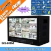 16ch H.264 standalone dvr fixed 15.6 inch TFT monitor