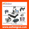 The hot product lowest price t-shirt heat press machinefor 8 in 1