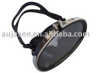 Single lense diving mask for scuba diving