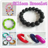 Silicone Fashion Bracelet with Different Style Bracelet and Bangle can make many Colours and Customed style